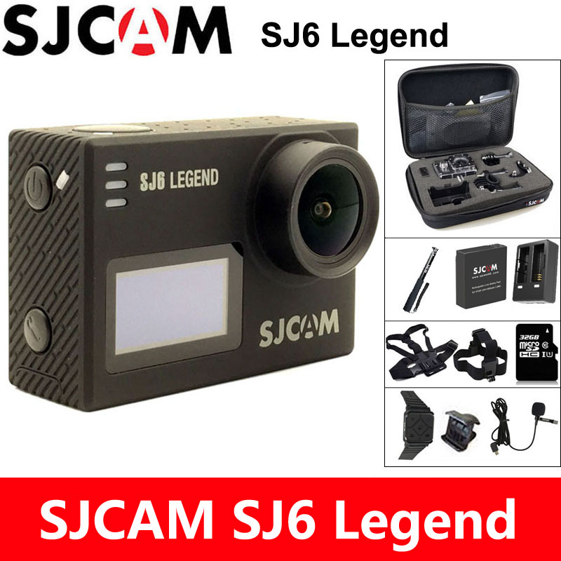 SJCAM SJ6 Legend Action Camera 4K Sports DV Wifi 30m Waterproof 1080P Ultra HD 2 Touch Screen Notavek 96660 Remote Original Cam