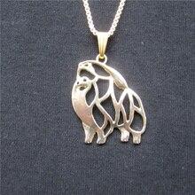 Silver Hollow Pomeranian Necklace