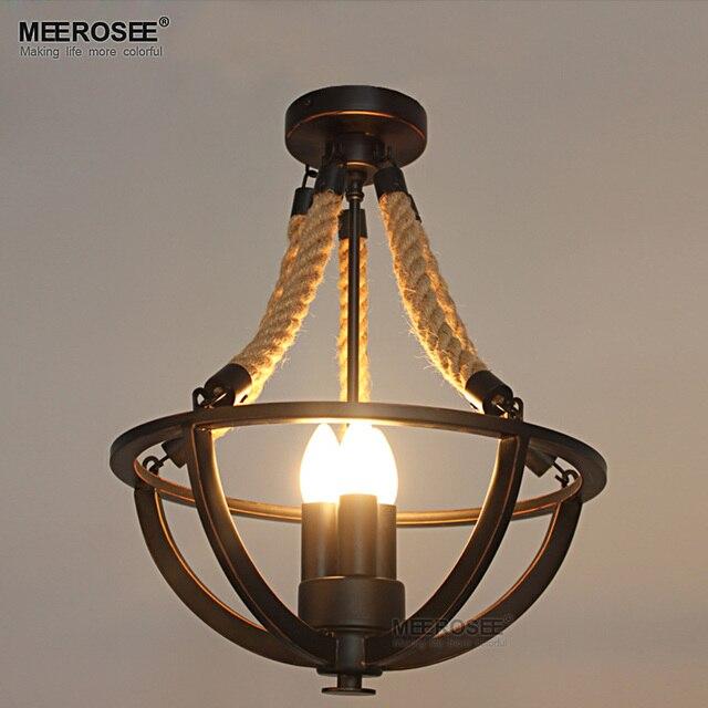 Vintage Amerika Stil Pendelleuchten Leuchte Seil Eisen Beleuchtung Für  Wohnzimmer Esszimmer Lustre Pendelleuchte