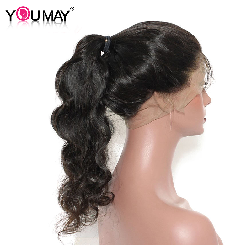360 Lace Frontal Wig Body Wave Pre Plucked 180% Density Brazilian Remy Human Hair Medium Cap Size You May