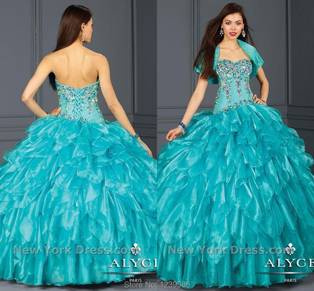 d62af440247 2018 Bule Sweetheart vestidos de 15 anos Quinceanera Dresses Ball Gowns  Beaded Sequins Floor Length Free shipping Custom made