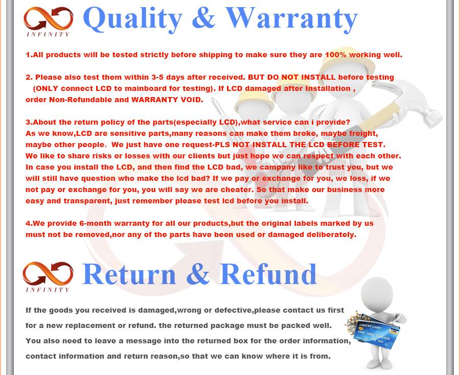 infinity Quality Warranty 5