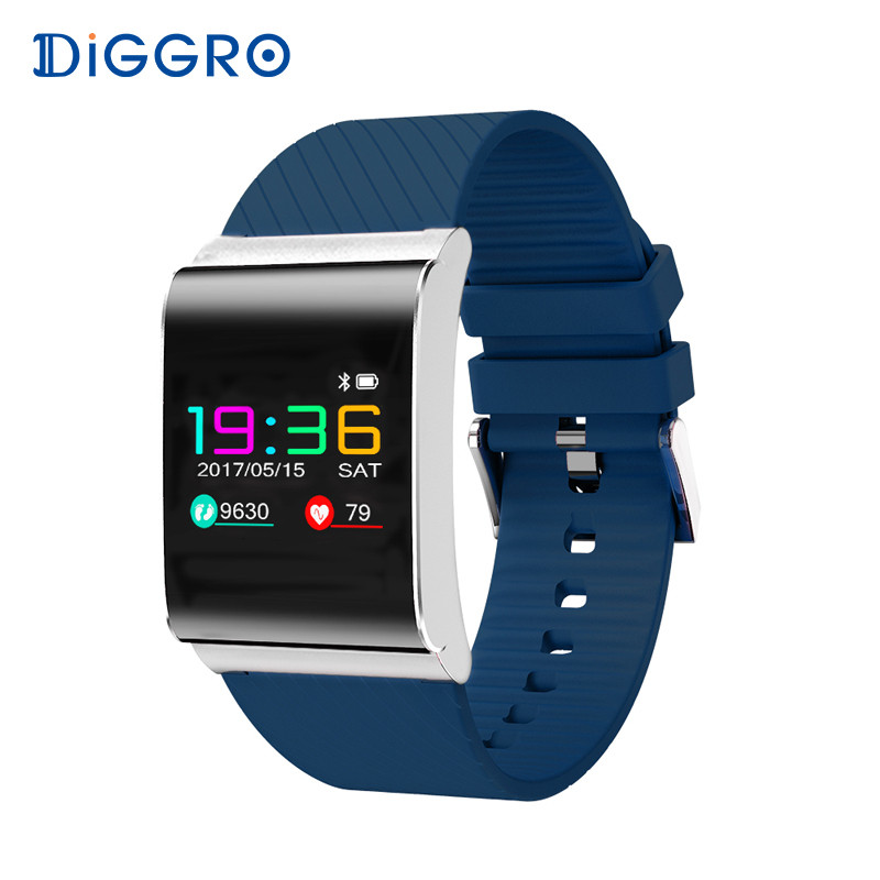 Diggro DB 01 Smart Bracelet Color OLED Screen Blood Pressure Blood Oxygen Monitor Heart Rate Monitor