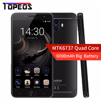 New 5 5 Gretel GT6000 6000mAh Big Battery Smartphone Android 7 0 MT6737 Quad Core 2G