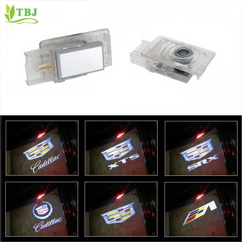 2pcs Easy To Install Car Door Light Projector Led Logo Lights Projection Ghost Lights Shadow Welcome Lamp For Srx Xts Ats Automobiles & Motorcycles