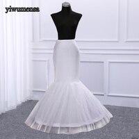 Mermaid long petticoat woman 1 Hoop Bone Elastic petticoats for Wedding Dress Crinoline 2018 Bridal Cheap Petticoat