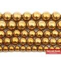 Бесплатная доставка натуральный камень золото гематитовый, Шамбала бусины 4 6 8 10 мм 15