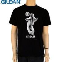 GILDAN Hot Summer T Shirt Fashion Soccerer Player Crew Neck Novelty Short Tees For Men