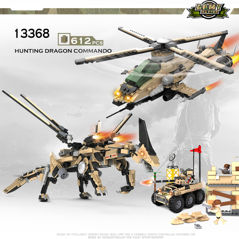 где купить COGO Deformation Mech Educational Building Blocks Toys For Children Kids Gifts Helicopter Robot Soldier Weapon Compatible Legoe дешево
