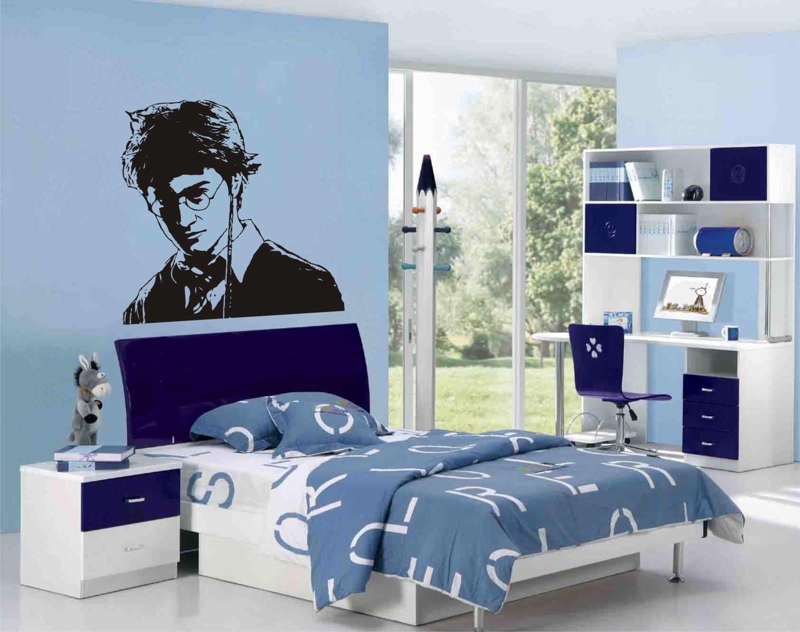 buy harry potter characters wall art stickers decals murals for kids room free. Black Bedroom Furniture Sets. Home Design Ideas