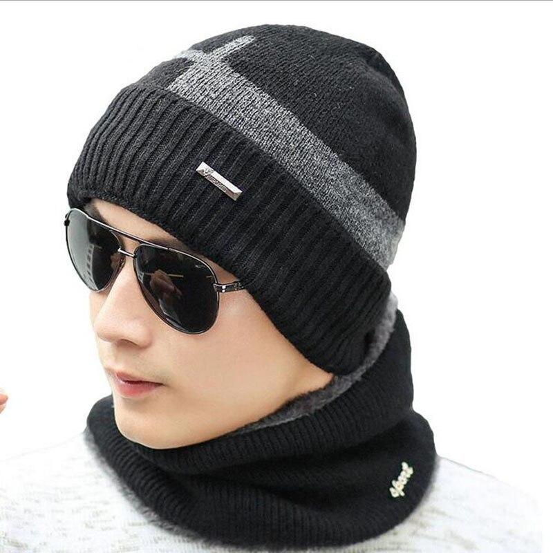 SUOGRY Winter   Beanies   Men Scarf Knitted Hat Caps Mask Gorras Bonnet Warm Baggy Winter Hats For Men Women   Skullies     Beanies   Hats