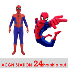 Avengers peter parker spiderman homecoming spiderman PS4 spiderman zentai suit for Halloween cosplay costume for kid and adult сабо spiderman
