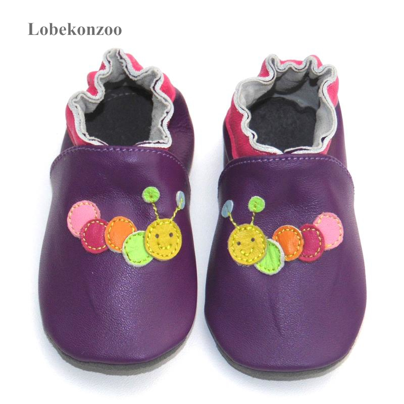 Image 3 - Lobekonzoo  hot sell baby girl shoes  Guaranteed 100% soft soled Genuine Leather baby First walkers   infant shoes Free shippingFirst Walkers   -