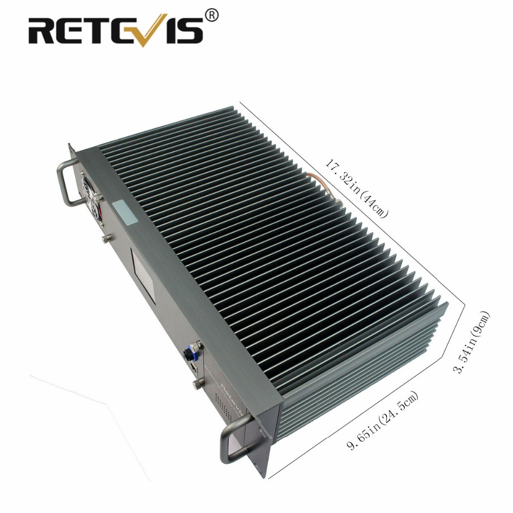 New All-aluminum Alloy Retevis RT-9550 DMR Digital/Analog Repeater 55W UHF TDMA 2 Time Slots LCD Display A9116B