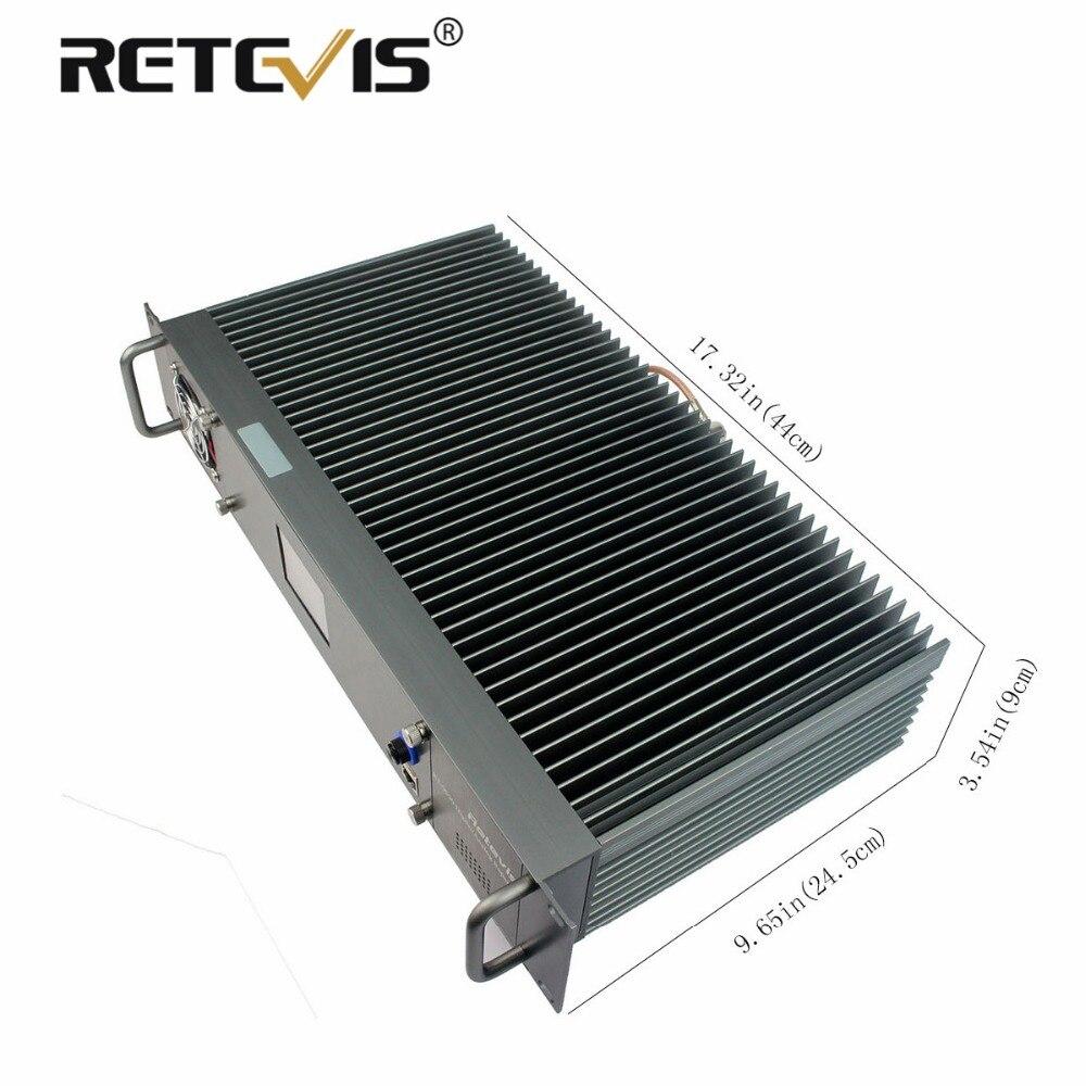 Nouveau Alliage d'aluminium Retevis RT-9550 Numérique DMR/Répétiteur Analogique 55 w UHF TDMA 2 Plages Horaires LCD affichage A9116B