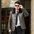Quality Winter Men Leather Jacket Solid PU Leather Fur Collar Waterproof Motorcycle Jacket Casual Warm Man Coat Windbreaker 9XL