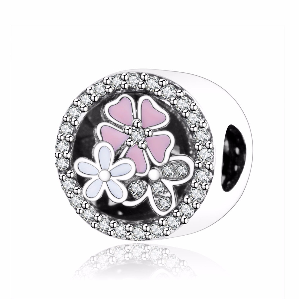 Pandora Jewelry Online Retailers: 925 Sterling Silver Poetic Blooms Charms With Mixed