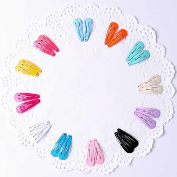 50 шт./лот 3 см милый карамельный цвет детские заколки для девочек аксессуары для волос Принцесса Шпилька мини заколки