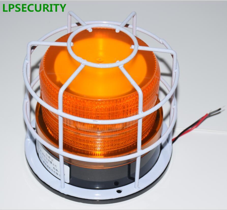 LPSECURITY Waterproof 12VDC 24VDC Flashing Lamp Blinker Light Strobe For Garage Shutter Gate Door Opener School Bus(no Sound)