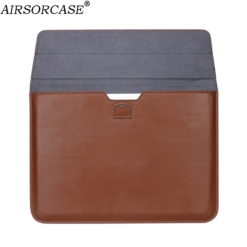 PU Leather Envelope Laptop Bag Computer Liner Sleeve Case For Macbook New Air Pro Retina 11 12 13 15 13.3 15.4 Inch Notebook Bag