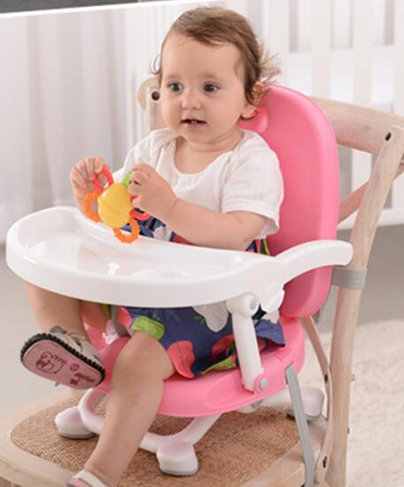 2016 Popular Fashional Baby Meal Chair Multifunction Folding Portable Child Dinning Chair For 0-4 Years Old Baby Use