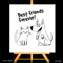 ZhuoAng Best Friends Forever Clear Stamps/Card Making Holiday decorations For scrapbooking Transparent stamps 10*10cm