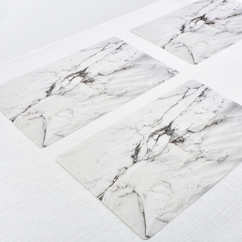 Marble Pattern Stripe Place Mat PVC Table Mat Dishware Coasters For Kitchen Tableware Pad DIY Wedding Party Home Decorative Mat gold metal duvar saati