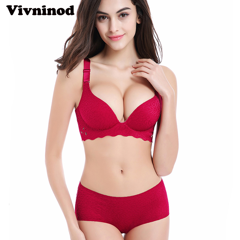 bd26820bee3f6 3D Sexy Thin One Piece Seamless Bras Set Push Up Plus Size Women Thin  Embroidery Underwear Set No Rims Seamless Bra Set 44 46C D-in Bra   Brief  Sets from ...