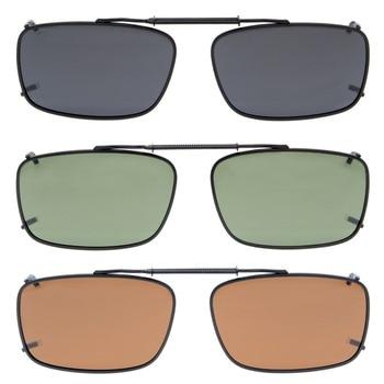 b990338662 Eyekepper C61 Mix Gris/Marrón/G15 Lente 3-pack Clip-on gafas de Sol ...
