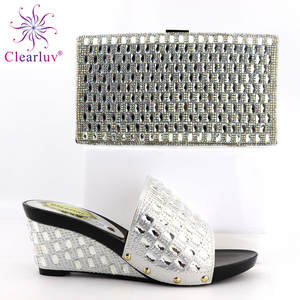 4b1ae5e844c3 Clearluv Shoes and Bag Set African Women and Bag to Match