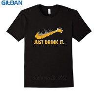 Pas cher Graphique T Chemises À Manches Courtes O-cou Meilleur Ami Mens Juste Boire Bière Chemises