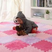 Baby EVA Foam Plush Puzzle Play Mats 6pieces Lot Interlocking Exercise Tiles Floor Mat For Kid