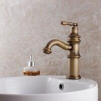 Antique Copper Bathroom Basin Counter Basin Hot And Cold Faucet Fashion Retro Vintage Finishing Bathroom Copper
