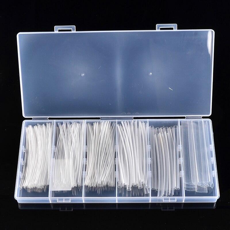 100/150 pièces 2:1 gaine thermorétractable 100mm Transparent 1.5-10.0mm gaine électrique gaine de câble gaine Kit Tube rétractable avec boîte