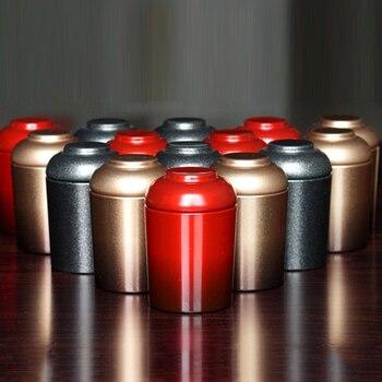 Mini Tea Box Portable Quality Tin Cans For Coffee Cookie Organizer Kitchen Storage Jar Pot Metal Iron Sealed Container 12pcs/lot 4