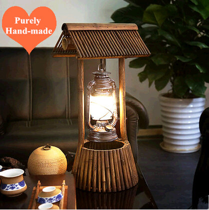American rural original purely hand made bamboo art table lamps american rural original purely hand made bamboo art table lamps south asia antique design lamp for studionarrow table ldk017 in led table lamps from lights aloadofball Image collections