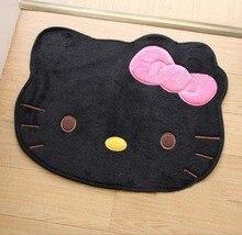 Hello kitty lindo sólido estilo japón Súper absorbente antideslizante alfombra alfombra alfombra del dormitorio negro