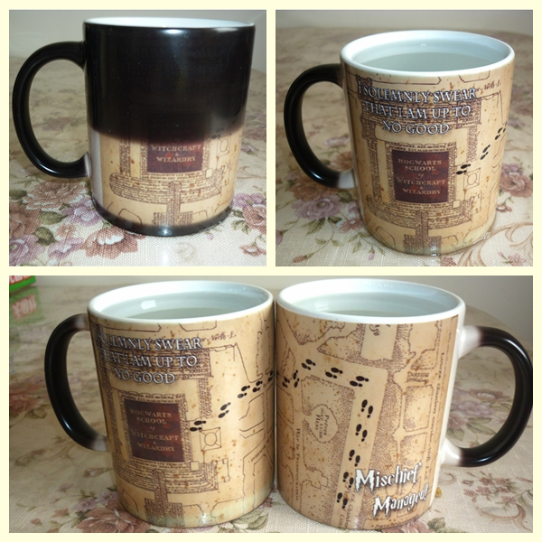 Magic Cup Hot Drink Cup Color Changing Harry Marauders Map Mischief Managed Wine Tea Cup Creative Gift Dropshipping Кубок