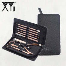 XYj Nagelknipper Kit en Comedondrukker Set Manicure Set Nail Care Tools en Comedo Extractor Beauty Tools Set Grooming kit(China)
