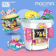 LOZ Mini Blocks Amusement Park Drinks Shop Burger Shop Model Amusement Blocks Kid Gift Plastic Building Blocks Toys Children