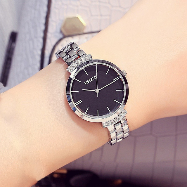 silver black watch