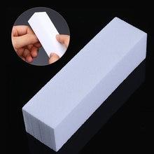 10 Pçs/set Branco Nail Art Buffers Lixar Bloco Arquivo Trimmer Ferramenta Da Arte Do Prego de Moagem de Polimento