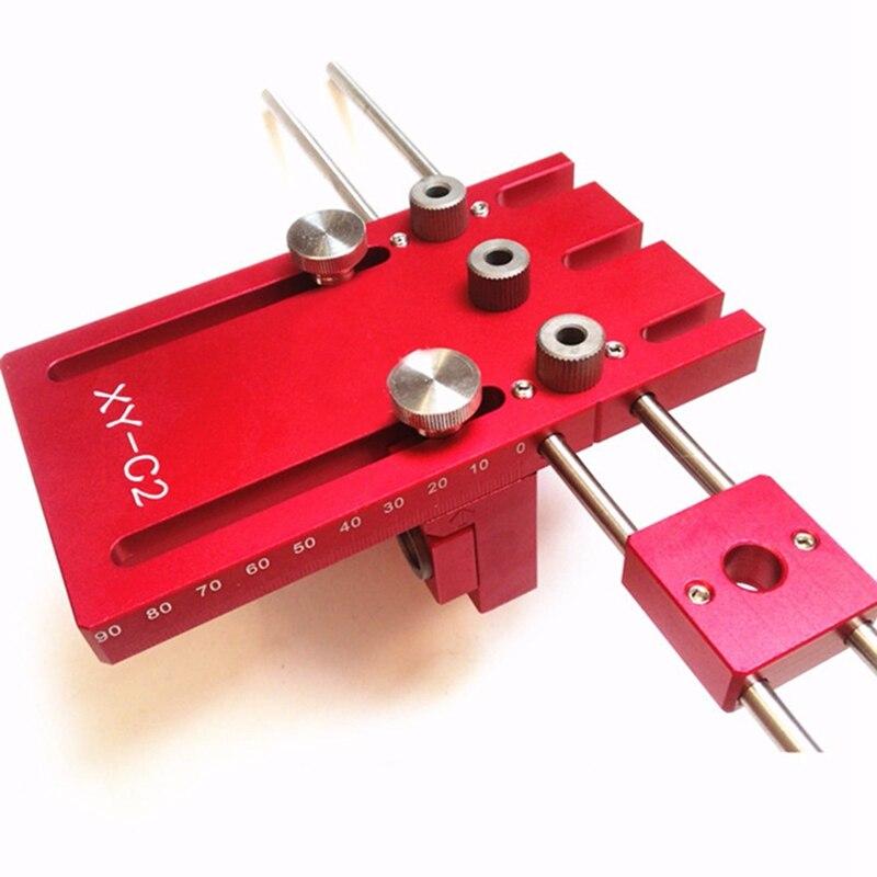 3 в 1 деревообрабатывающий сверлильный набор локатор дюбель джиг столярная система Дырокол Набор алюминиевый сплав - 5