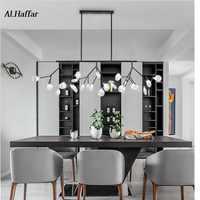 Moderne LED Neue Kreative anhänger lichter firfly schwarz gold rechteck anhänger lampe für esszimmer Küche