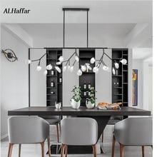 Modern LED New Creative pendant lights firfly black gold rectangle pendant lamp for dinning room Kitchen