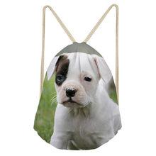 e2f6b5e08 Noisydesigns lindo Bull Terrier impreso pequeño cordón bolsas chica Mochila  ocasional de las mujeres Mochila deporte