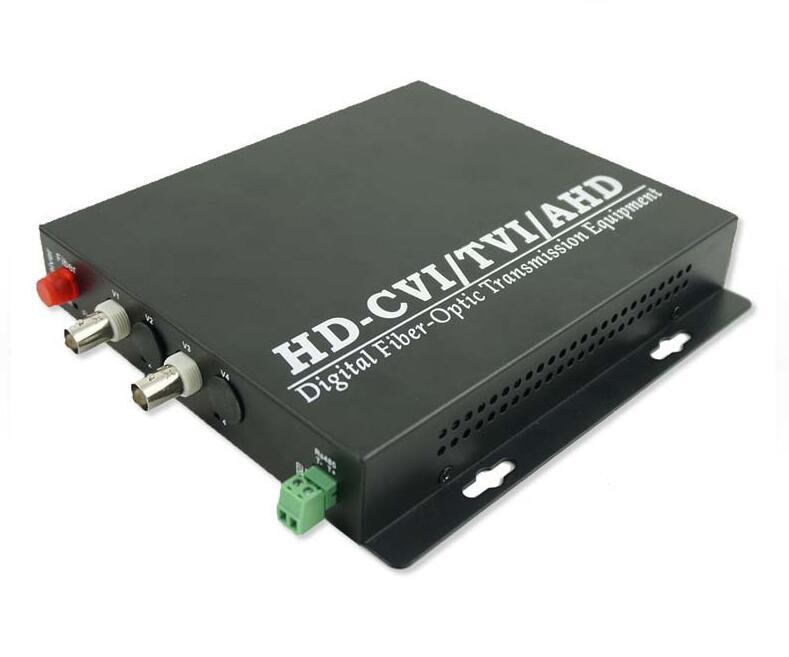 2ch AHD/CVI/TVI 3in1 Optical Transmitter With 1ch RS485 Data/2ch HD 1080p, FC, Singlemode,Singlefiber 20km