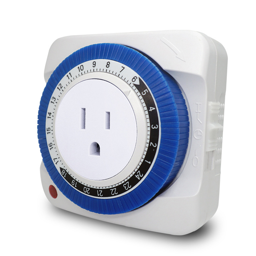 24 Hour Timer Socket Mechanical Program Timer Switch Socket 230V/110V EU/US Plug Wall Outlet Protector Energy Saveing 9