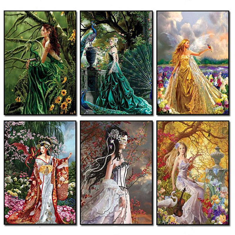 Bell Orchid Full Drill 5D Diamond Painting Embroidery Cross Stitch Kit 40*30