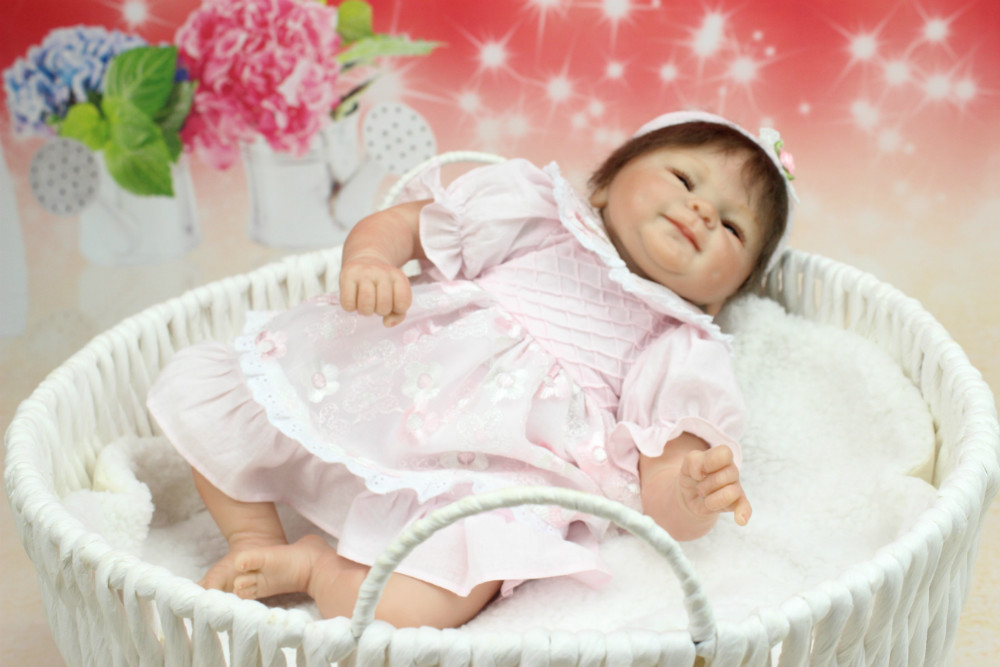 Free shipping NEW hot sale lifelike reborn baby doll wholesale soft real touch baby dolls Christmas gift [sgdoll] 2017 new 21 lifelike reborn sleeping baby doll lolita dress up w pacifier cushion feeder free shipping 15110708